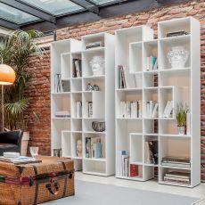 Abaco 7243 - Libreria Tonin Casa in legno, diverse finiture disponibili