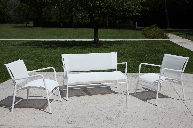 Rig42dv divano a due posti in metallo e textilene for Offerte articoli da giardino