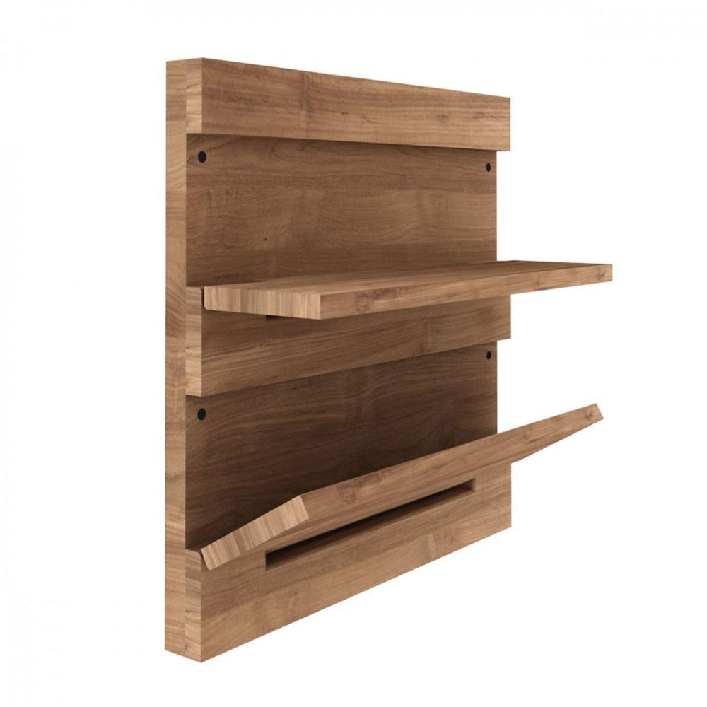 Utilitle s pensile da parete ethnicraft in legno con for Tavoli ribaltabili da parete