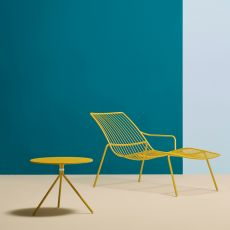 Nolita chaise longue - Pedrali deckchair in metal, for outdoor use, in different colours