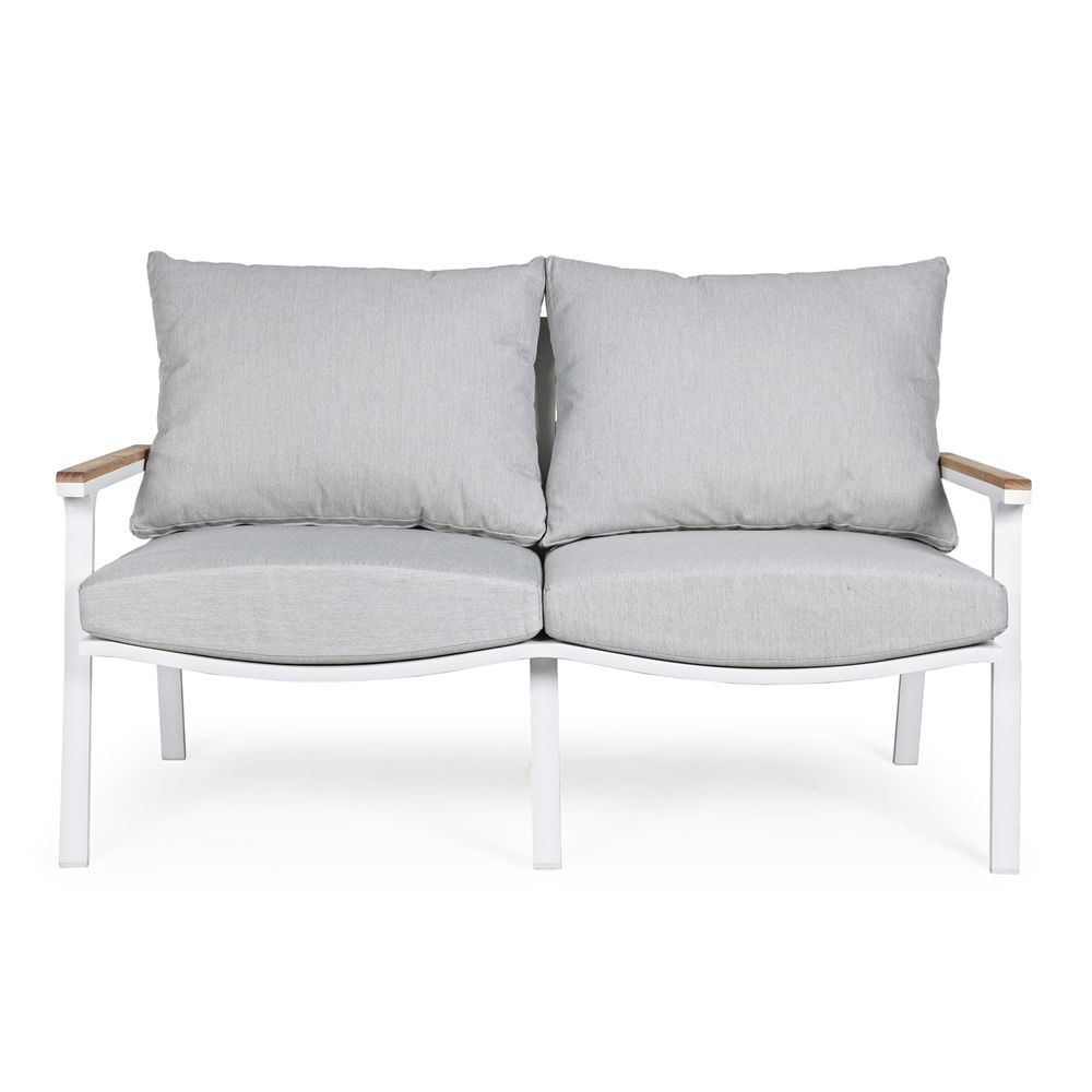 Lisso set kit de aluminio y teca para jard n 2 sillones for Oferta sofa jardin