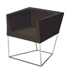 Cuba 2 - Emu armchair made of metal and synthetic rattan, for garden