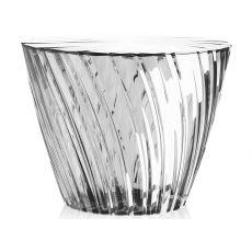 Sparkle - Niedriger Tisch von Kartell, aus Polymethylmethacrylat, runde Tischplatte mit Durchmesser 45 cm, vershiedene Farben