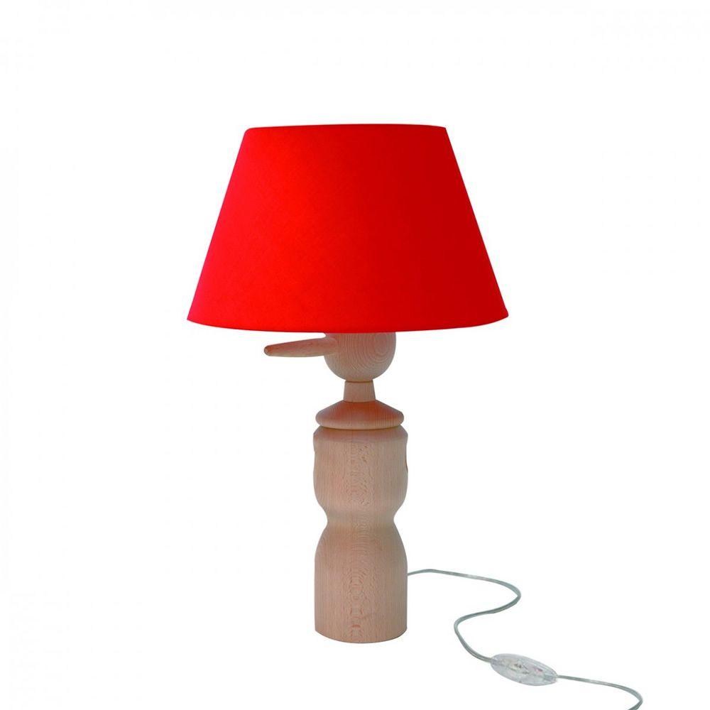 Pinocchio lt lampada da tavolo valsecchi in legno con - Lampada da tavolo legno ...
