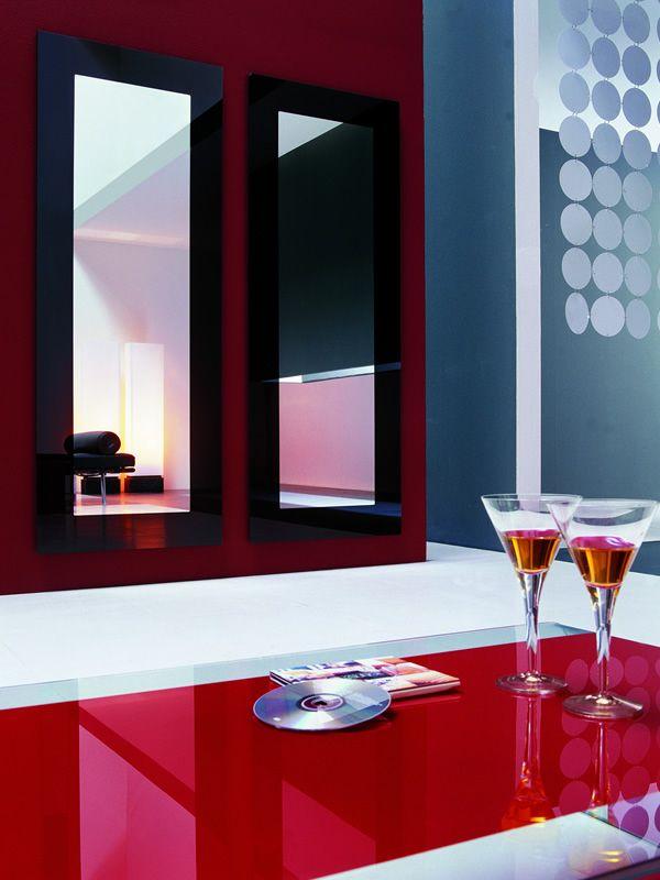 Toshima 5030 specchio rettangolare di tonin casa 168x64 - Specchio cornice nera ...