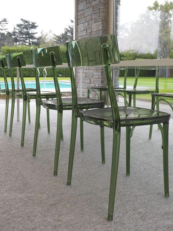 Milano 2015 silla apilable colico de policarbonato transparente disponible en varios colores - Sillas en policarbonato ...