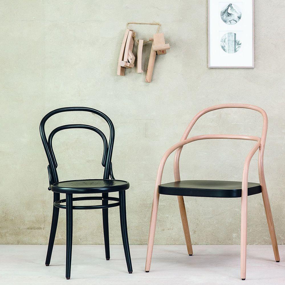 Chair 14 sedia ton in legno curvato sedile in legno - Sedia legno design ...