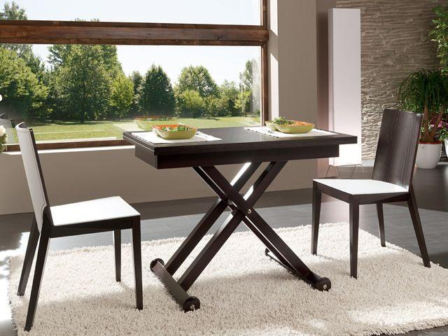 Roma tavolo idealsedia in legno 70x104 cm allungabile e regolabile in altezza sediarreda - Altezza tavolo da pranzo ...
