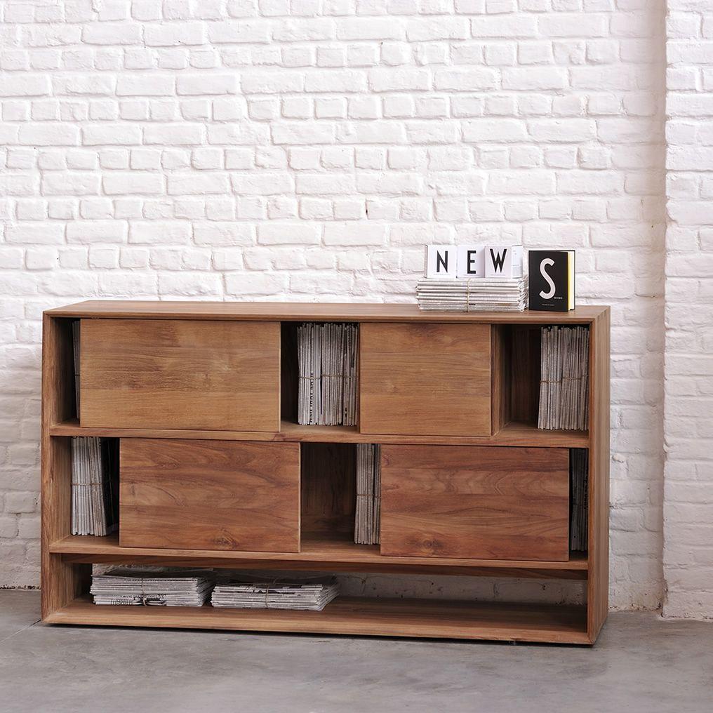 Nordic r mobile soggiorno ethnicraft in legno diverse for Mobile basso soggiorno