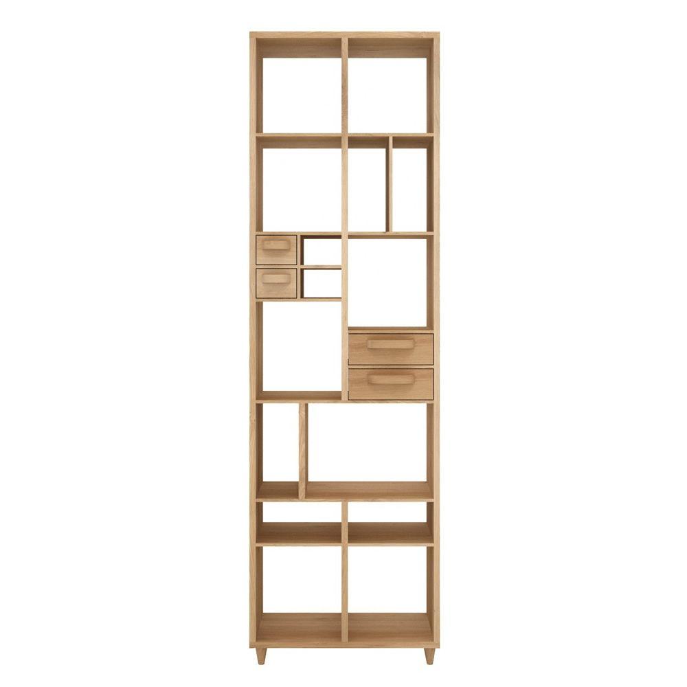 Pirouette - Libreria Ethnicraft in legno, con 4 cassetti - Sediarreda