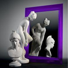 François Ghost - Miroir Kartell de design avec cadre en polycarbonate, en différentes couleurs et dimensions