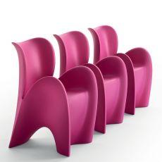 Lily - Chaise de design en technopolymère, disponible en différentes couleurs, aussi pour l'extérieur