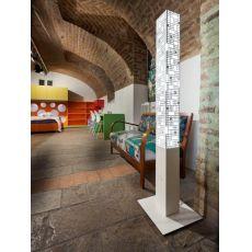 City A - Lampada da terra in metallo, LED, h. 150 o 190 cm, diversi colori