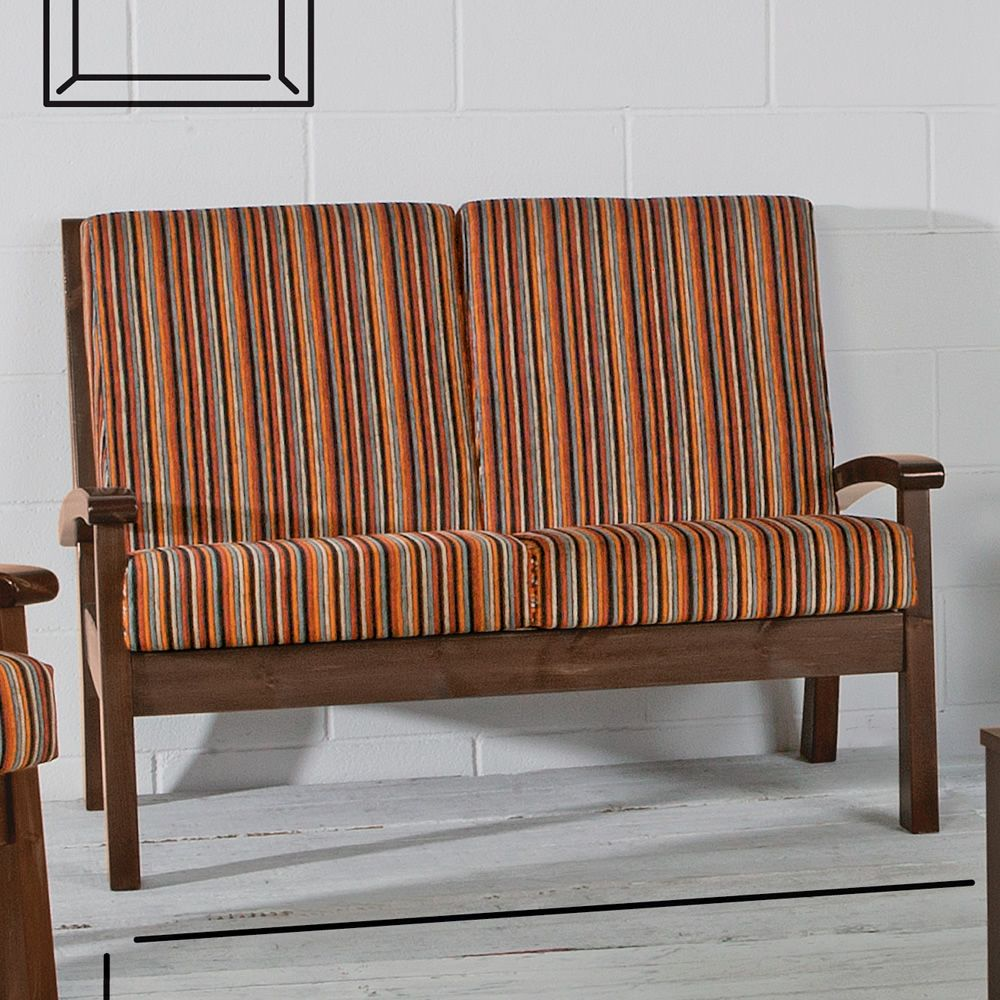 Lar7 divano sof r stico de madera con cojines disponible en distintos colores sediarreda - Sofas rusticos de madera antiguos ...