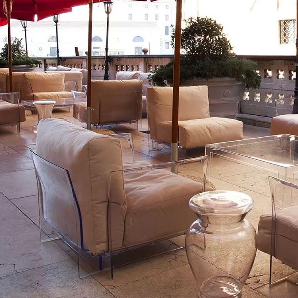 Pop outdoor poltrona di design kartell per esterno con - Rivestimento divano poltrone sofa ...