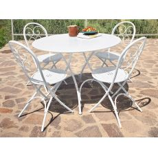 Pigalle P - Emu table made of metal, for garden, folding, top in several finishings
