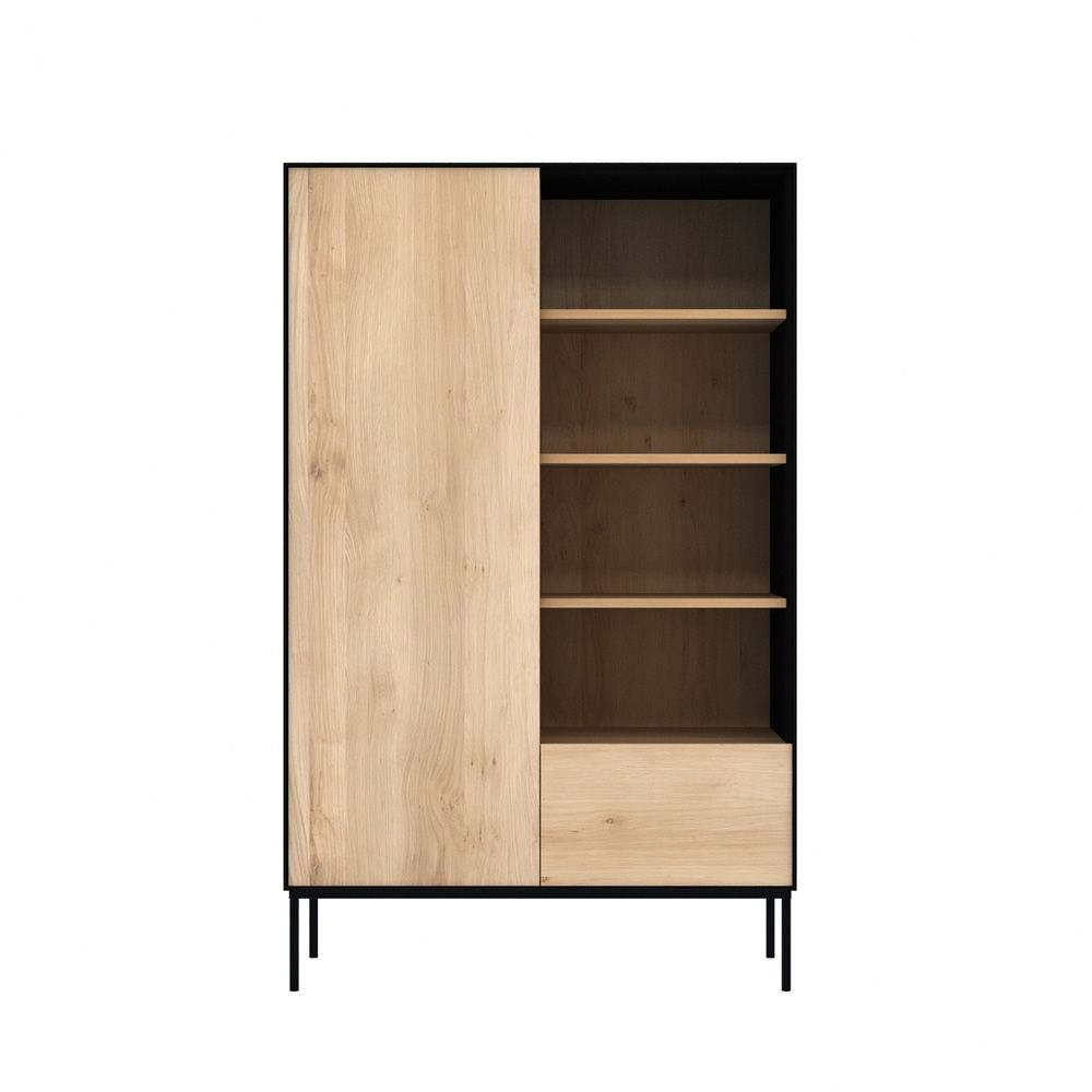 blackbird b meuble d 39 appoint biblioth que ethnicraft en bois avec portes tiroirs et. Black Bedroom Furniture Sets. Home Design Ideas
