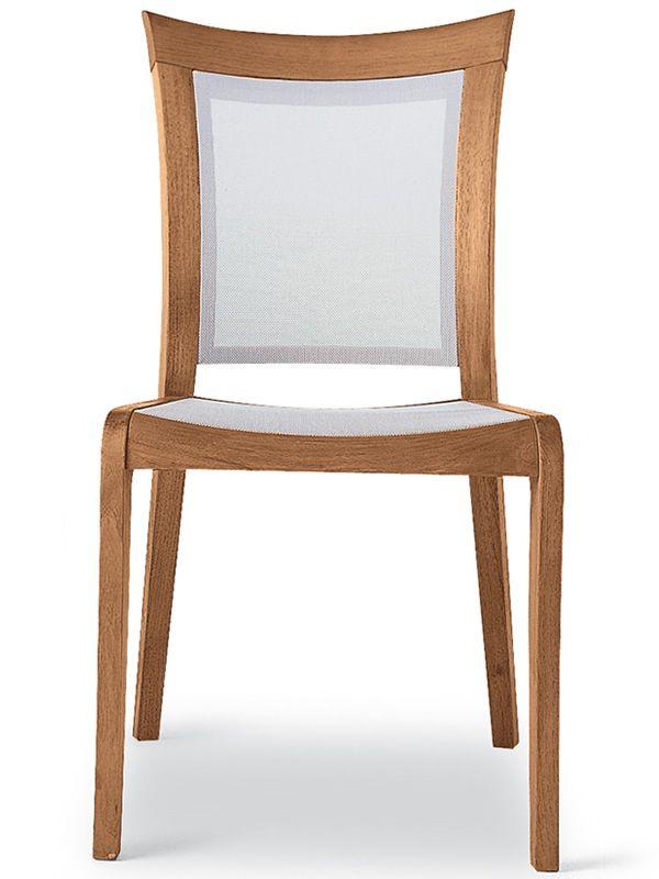 Mirage t sedia da giardino in legno robinia e textilene for Arredo giardino legno bianco