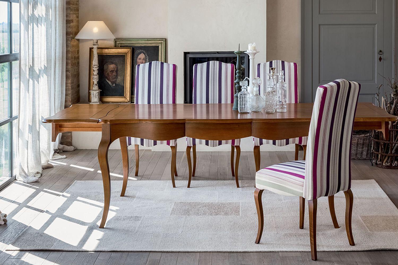 Aston 1129 Table classique Tonin Casa en bois, en différentes couleurs, 180