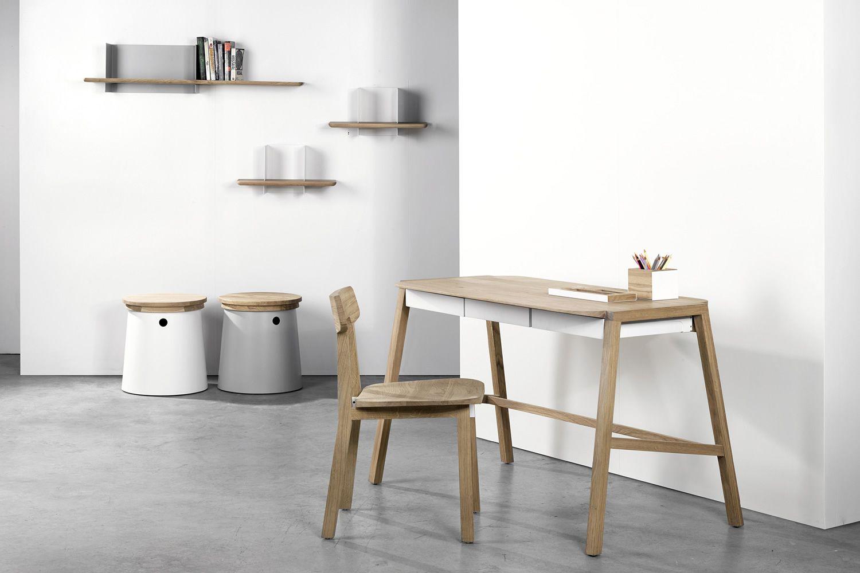 Verso scrivania universo positivo in legno con cassetti - Mensole porta pc ...