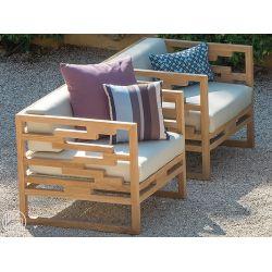 Kontiki poltrona emu in legno per giardino sediarreda for Sofas de madera para jardin