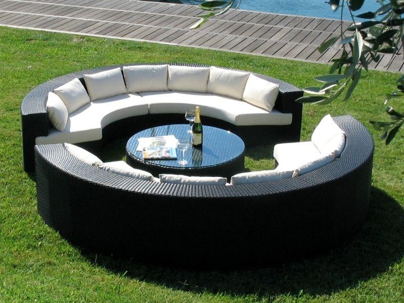Atollo: Set de jardin d\'extérieur équipé de 2canapés en demi ...