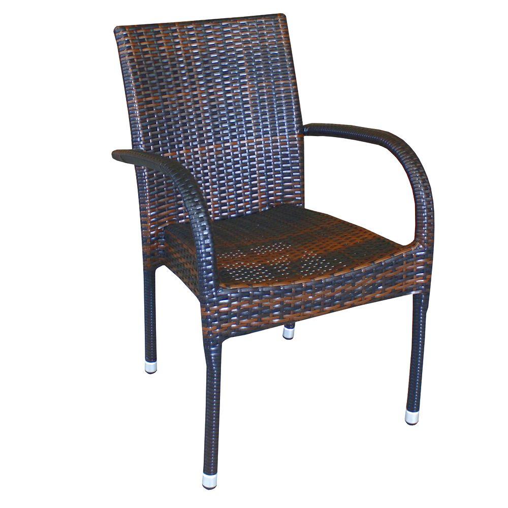 A81e sedia in alluminio e simil rattan con braccioli for Arredamento per giardino outlet