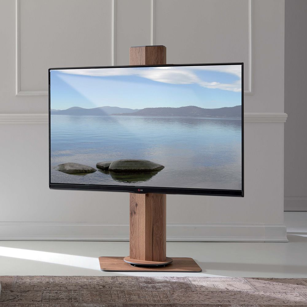 Uno: Plasma LCD-TV rack with electrically adjustable height, also ...