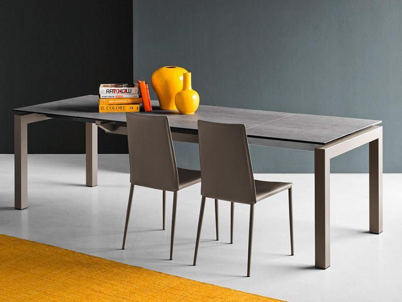 cb1257 boheme stuhl connubia calligaris aus metall und leder in verschiedenen farben. Black Bedroom Furniture Sets. Home Design Ideas