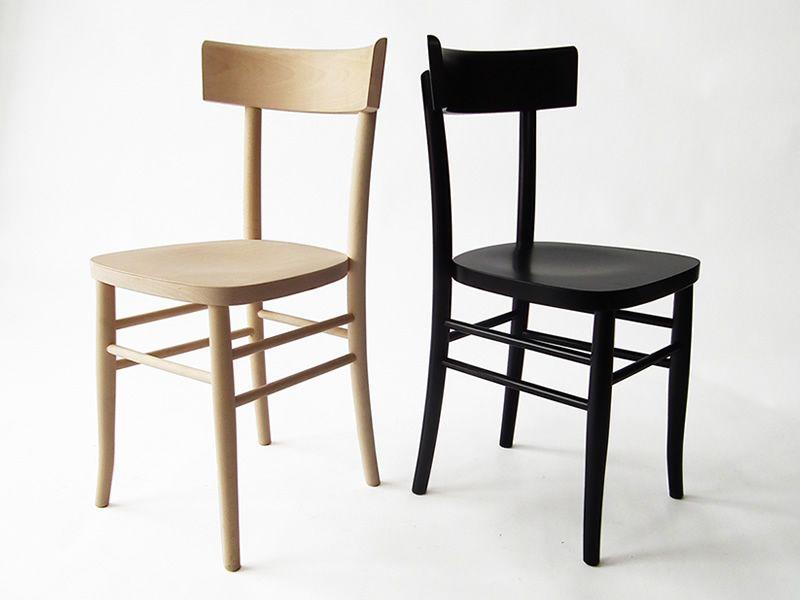 Milano l sedia viennese in legno curvato diverse tinte