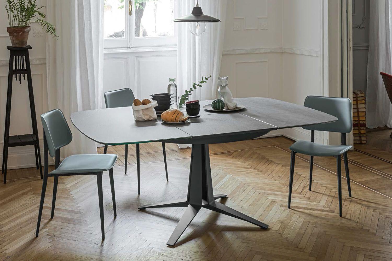 link tisch midj aus metall platte aus furnierholz oder kristall keramik 120 x 120 cm. Black Bedroom Furniture Sets. Home Design Ideas