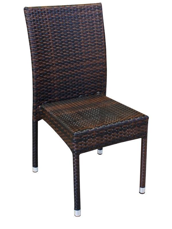 A80E - Sedia per giardino in alluminio e simil rattan, impilabile ...