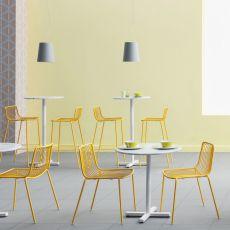 Nolita S - Sgabello Pedrali in metallo, impilabile, anche per esterno, altezza seduta 65 cm, disponibile in diversi colori