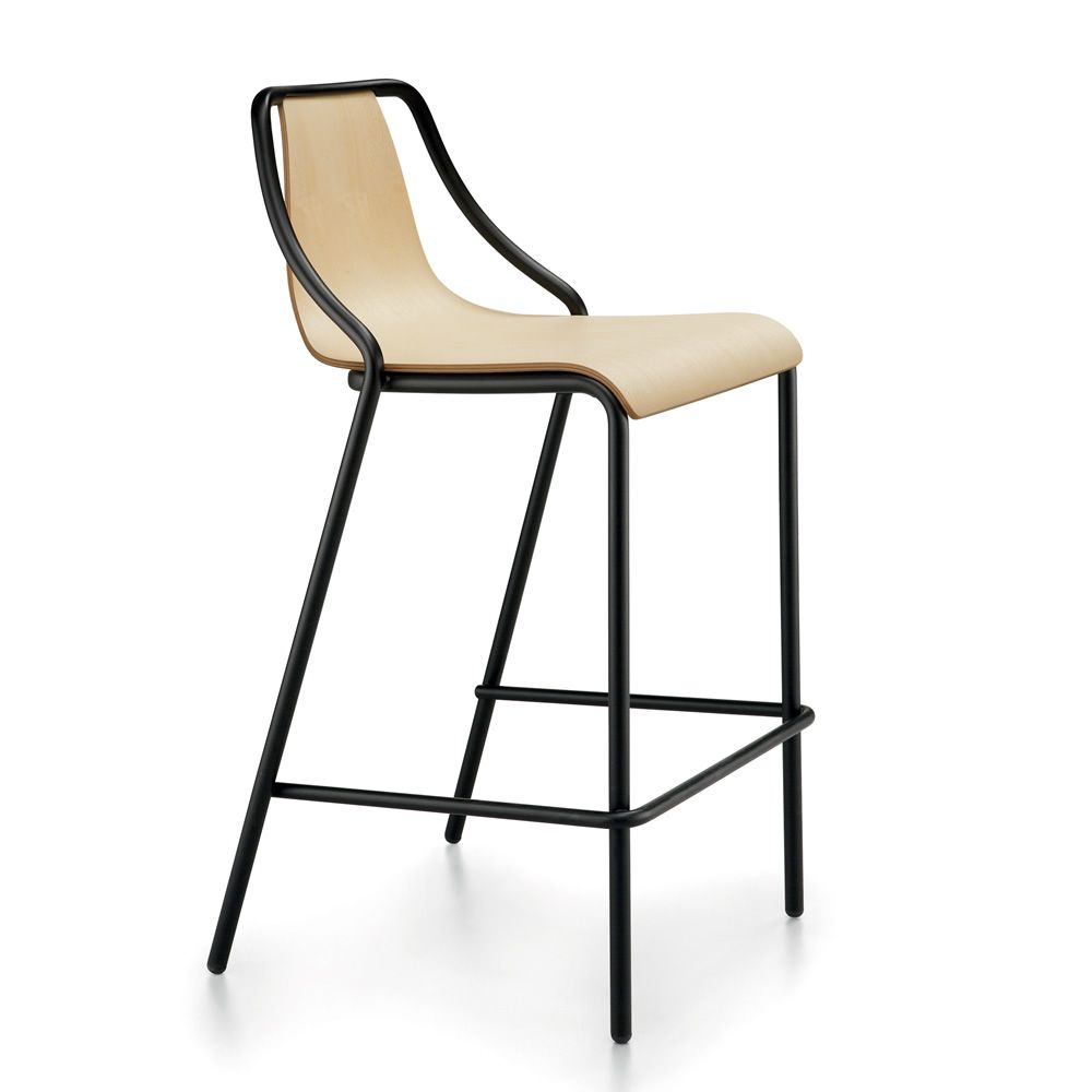 ola sg lg tabouret midj en m tal et bois hauteur assise 65 ou 75 cm empilable sediarreda. Black Bedroom Furniture Sets. Home Design Ideas