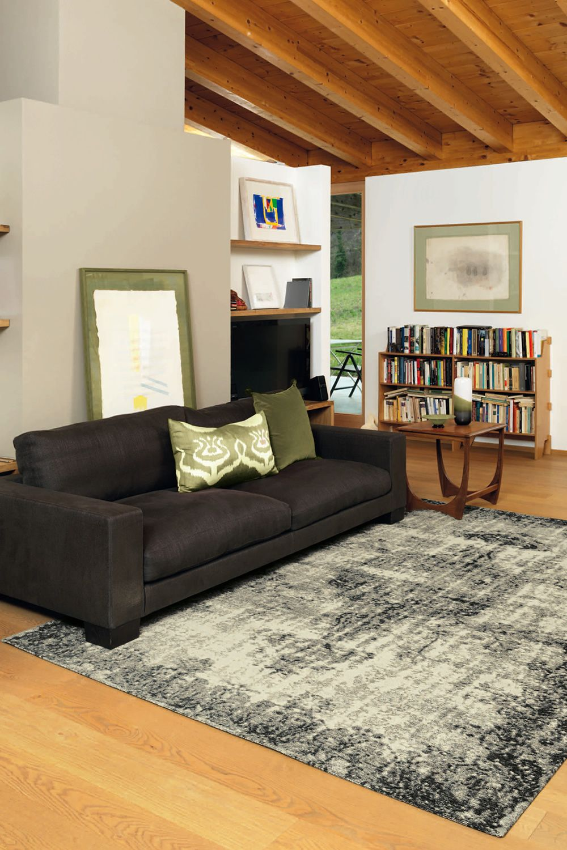 Deco tapis moderne en diff rentes dimensions sediarreda - Couleur gris fonce ...
