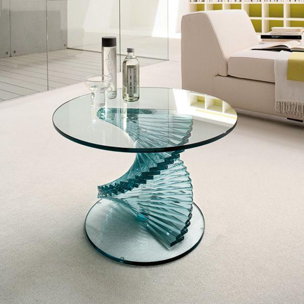 Ariel 6814 - Tavolino Tonin Casa in vetro, piano rotondo diametro 60 ...