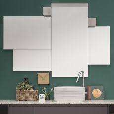 Random - Specchio moderno disponibile in diverse misure, anche con lampada