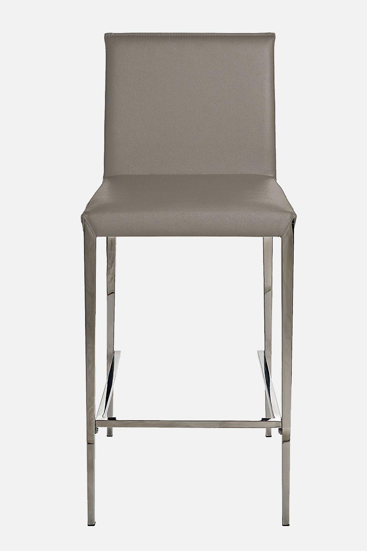Vr54 sgabello in metallo seduta rivestita in similpelle - Color fango abbinamenti ...