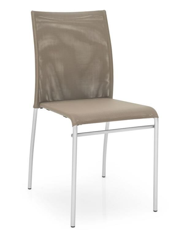 Cb1362 jenny per bar e ristoranti sedia in metallo con for Sedie struttura acciaio satinato