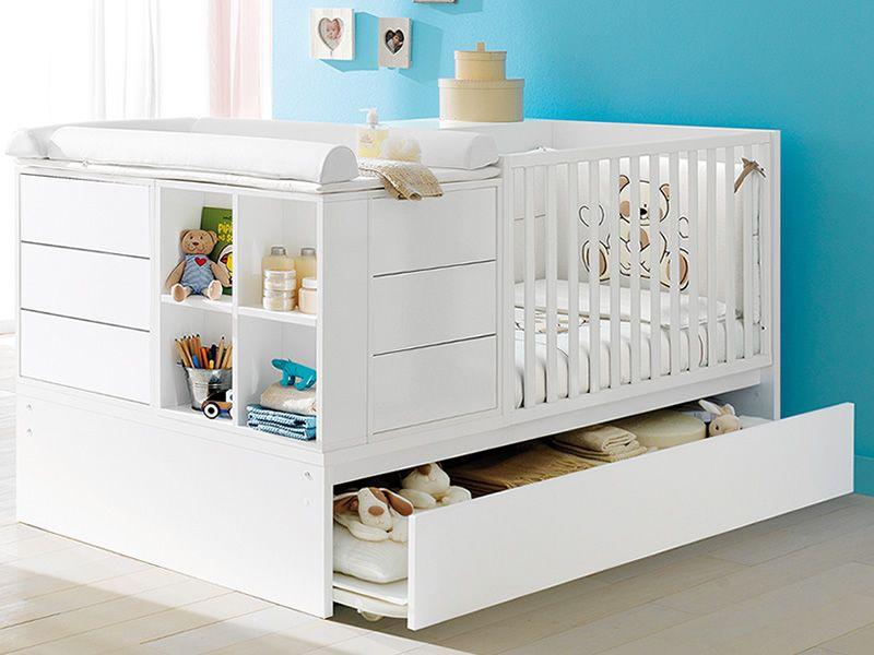 Kinderbett weiß mit schubladen  Voyager: Wandelbares Babybett Pali mit Schublade, verschiedene ...