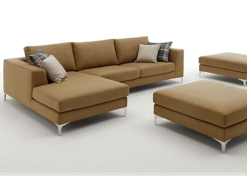 Avatar chaise longue 2 or 3xl modern sofa with chaise longue with upholstery in fabric or - Modern leather chaise longue ...