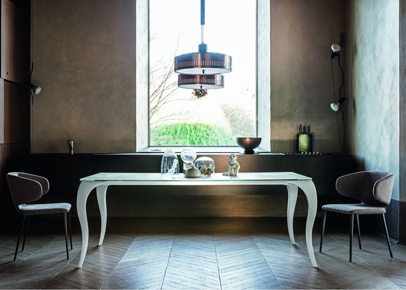 Bond tavolo fisso midj in policarbonato con piano vetro diverse misure sediarreda - Tavolo policarbonato ...