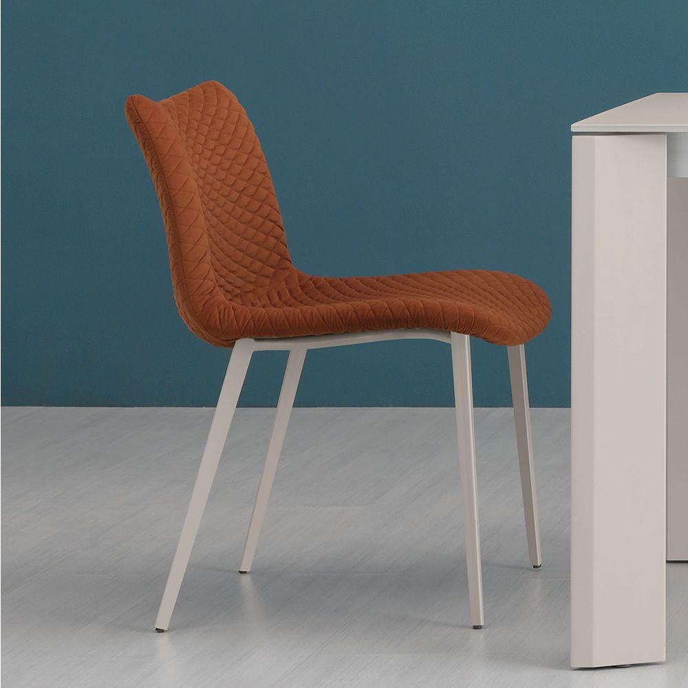 Fenice tr sedia domitalia in metallo seduta rivestita for Sedie fenice design