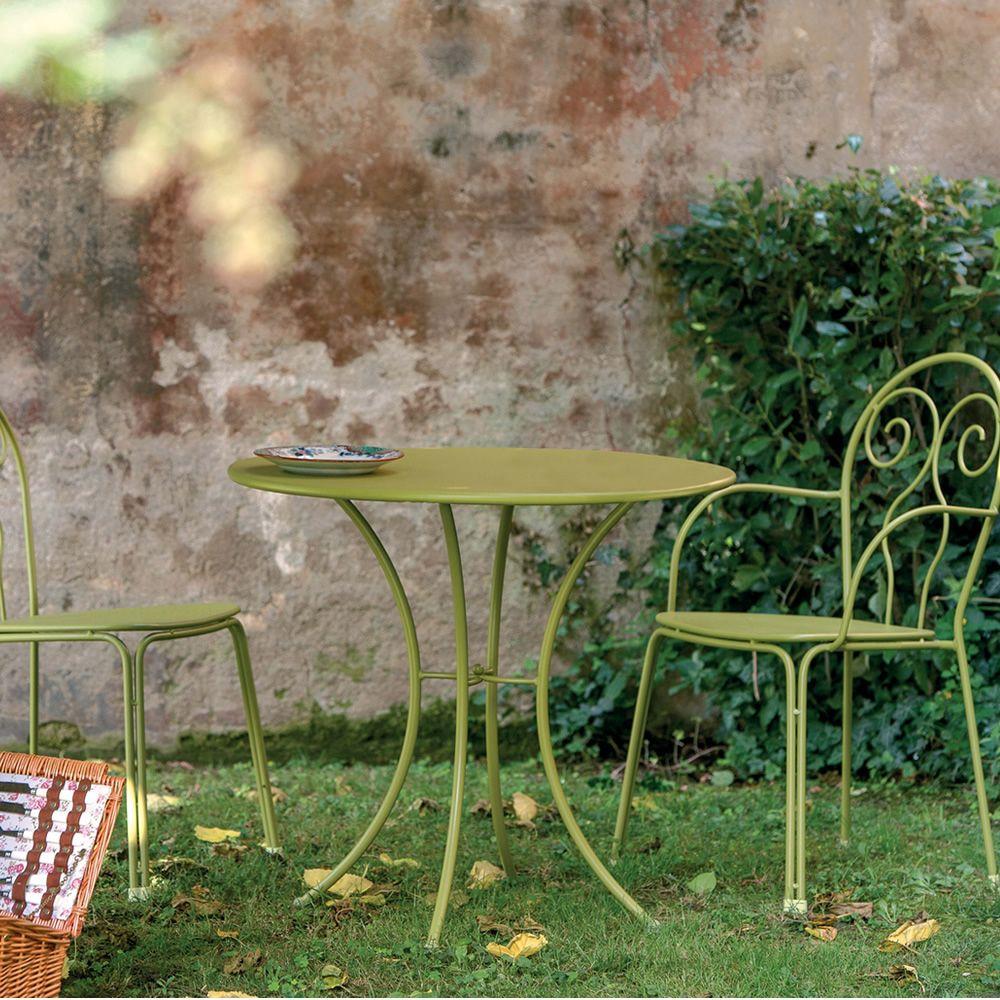 pigalle metalltisch emu mit runder platte 60 oder 80 cm f r garten sediarreda. Black Bedroom Furniture Sets. Home Design Ideas