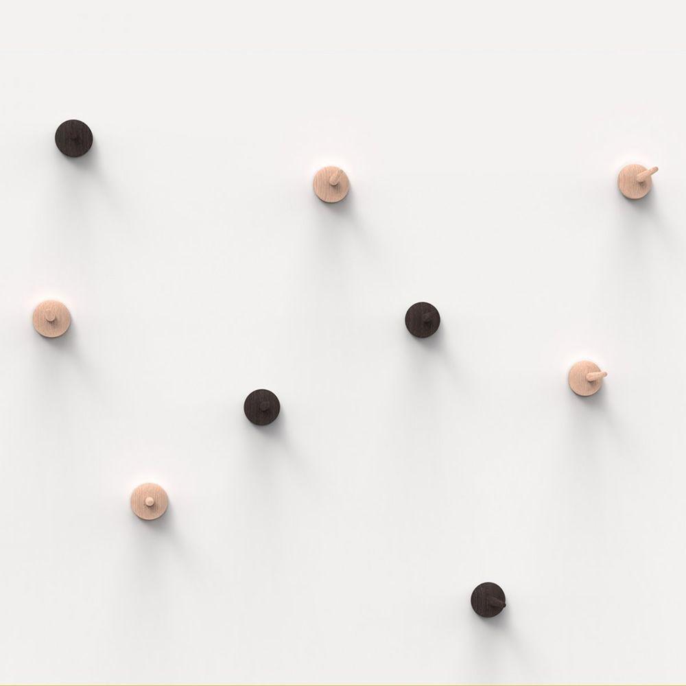 Bugia gancio appendiabiti da parete valsecchi in legno for Appendiabiti parete