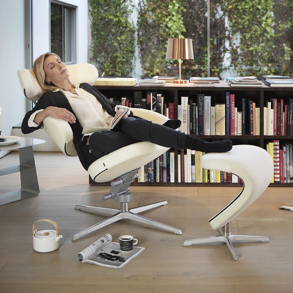 Peel™ - Poltrona design ergonomica con poggiapiedi Peel™ - Sediarreda