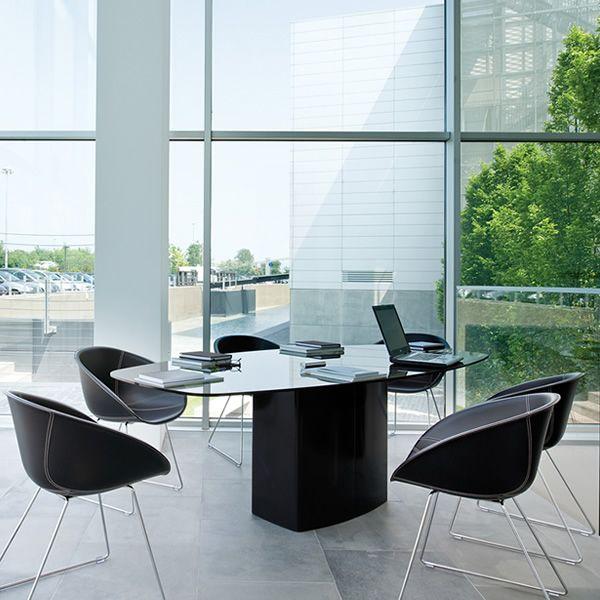 Aeroq designer tisch pedrali aus metall platte aus for Design tisch outlet