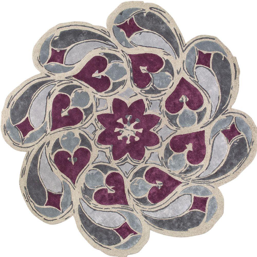 Rosone tappeto rotondo di design ispirato ai rosoni for Fenice design sedie ufficio