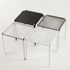 Ami Ami Table - Tavolo Kartell di design in metallo, piano in policarbonato 70x70cm, anche per giardino