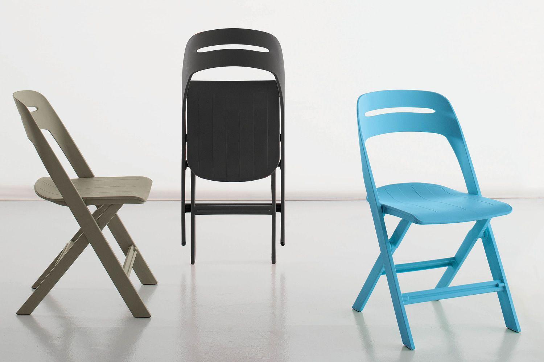Garland sedia pieghevole in polipropilene disponibile in